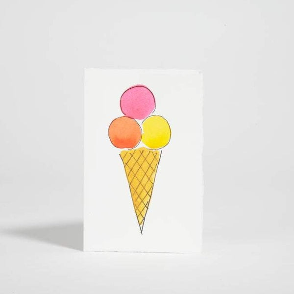 Ice Cream Blank Greeting Card