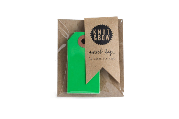 Kelly Green Parcel Tags