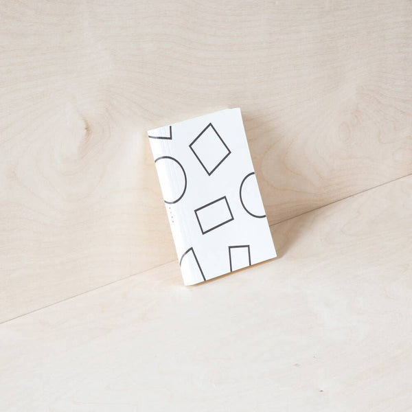 Layflat Weekly Pocket Planner – Shapes print in Black & White