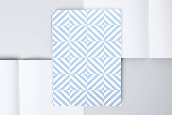 Layflat Notebook plain pages – Alma print in Salvia Blue