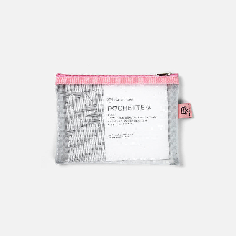 Papier Tigre Mesh Pocket Case - Bubblegum