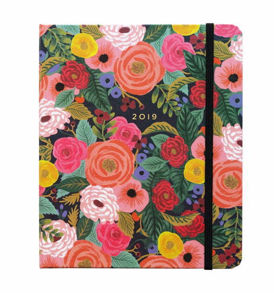 2019 Juliet Rose Covered Spiral Planner