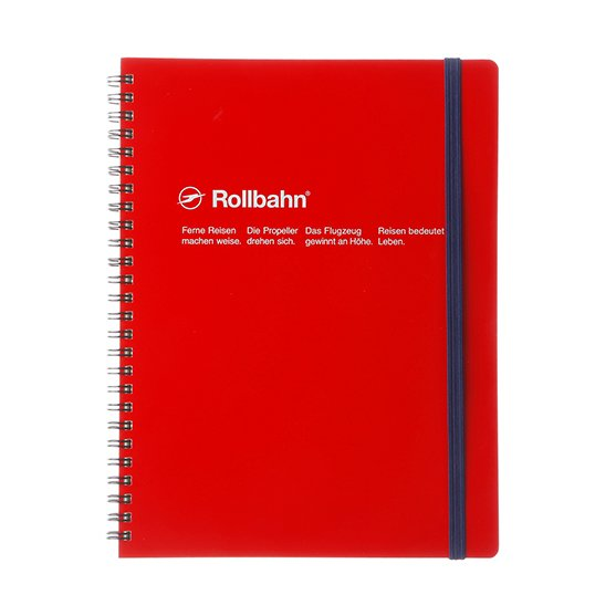Rollbahn Spiral Notebook - A5 Red