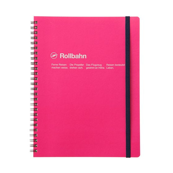 Rollbahn Spiral Notebook - A5 Rose
