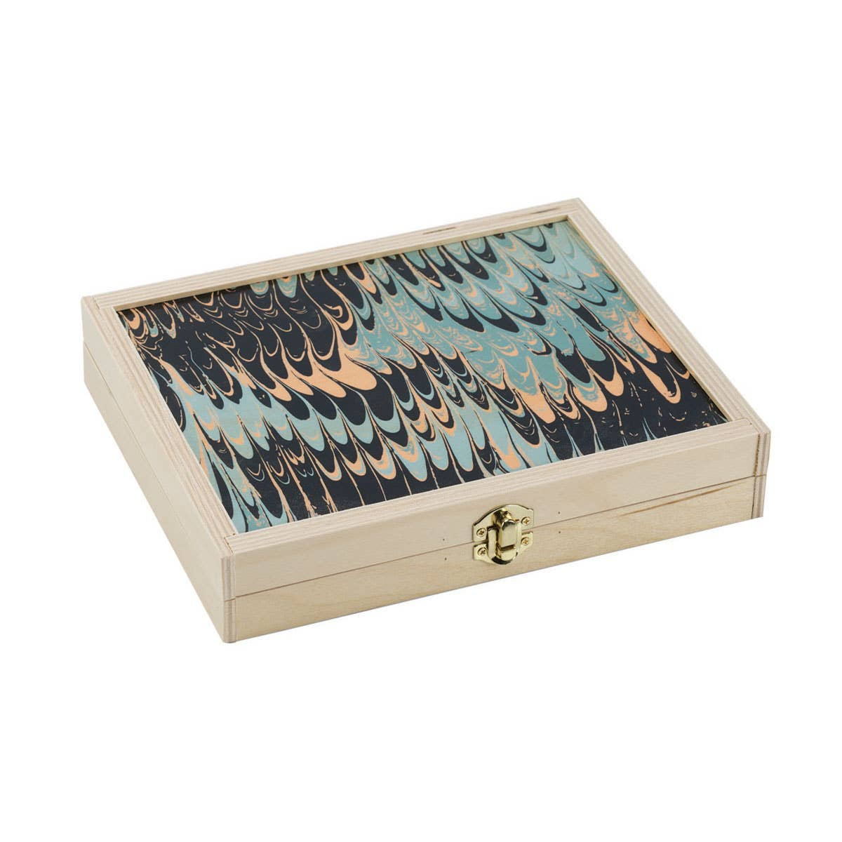 Seafoam Marble Backgammon Set