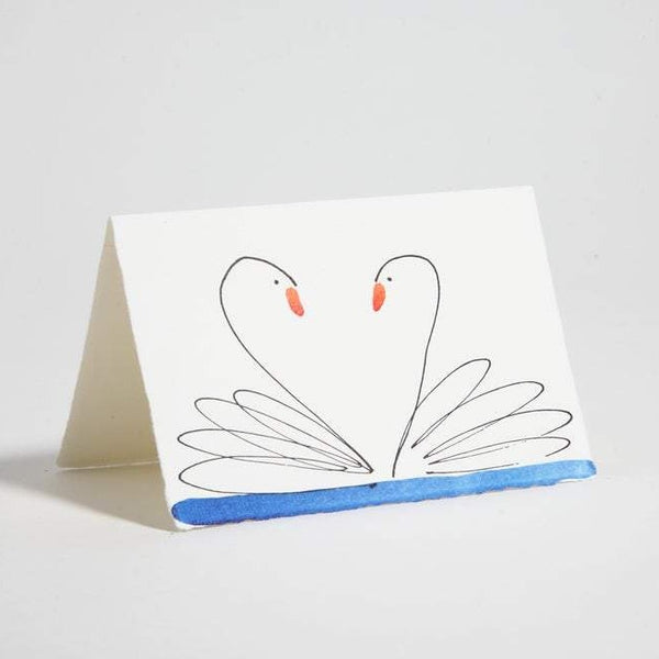 Swans Blank Greeting Cards