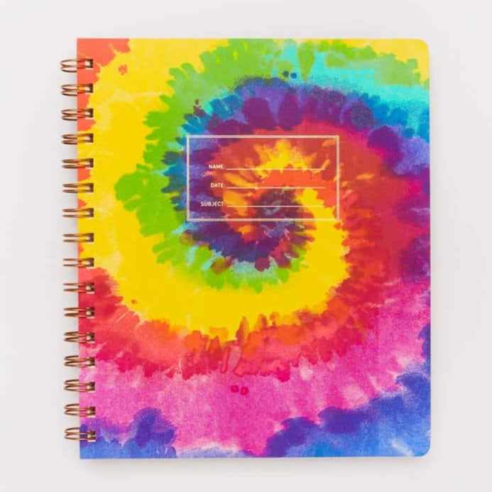 Tie Dye Lined Standard Notebook, Right Hand