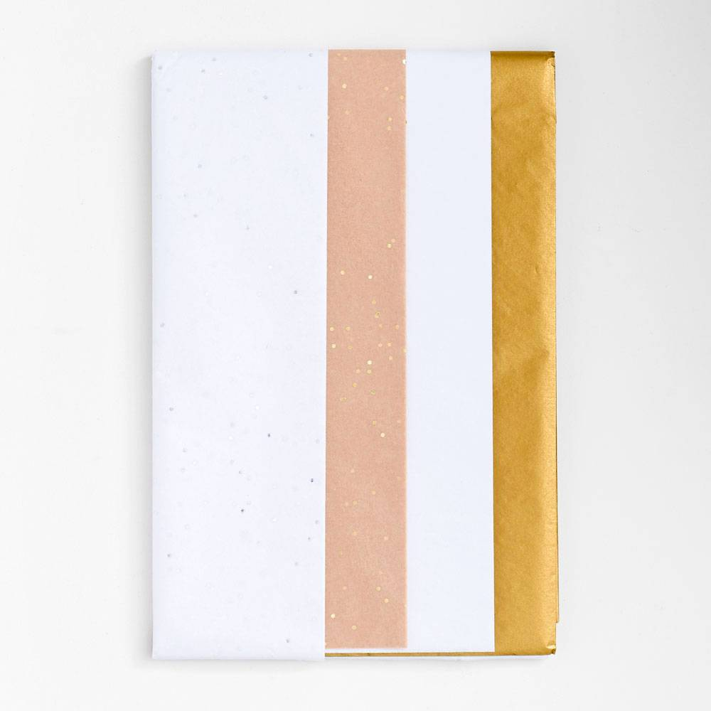 White/Gold Tissue Paper Set