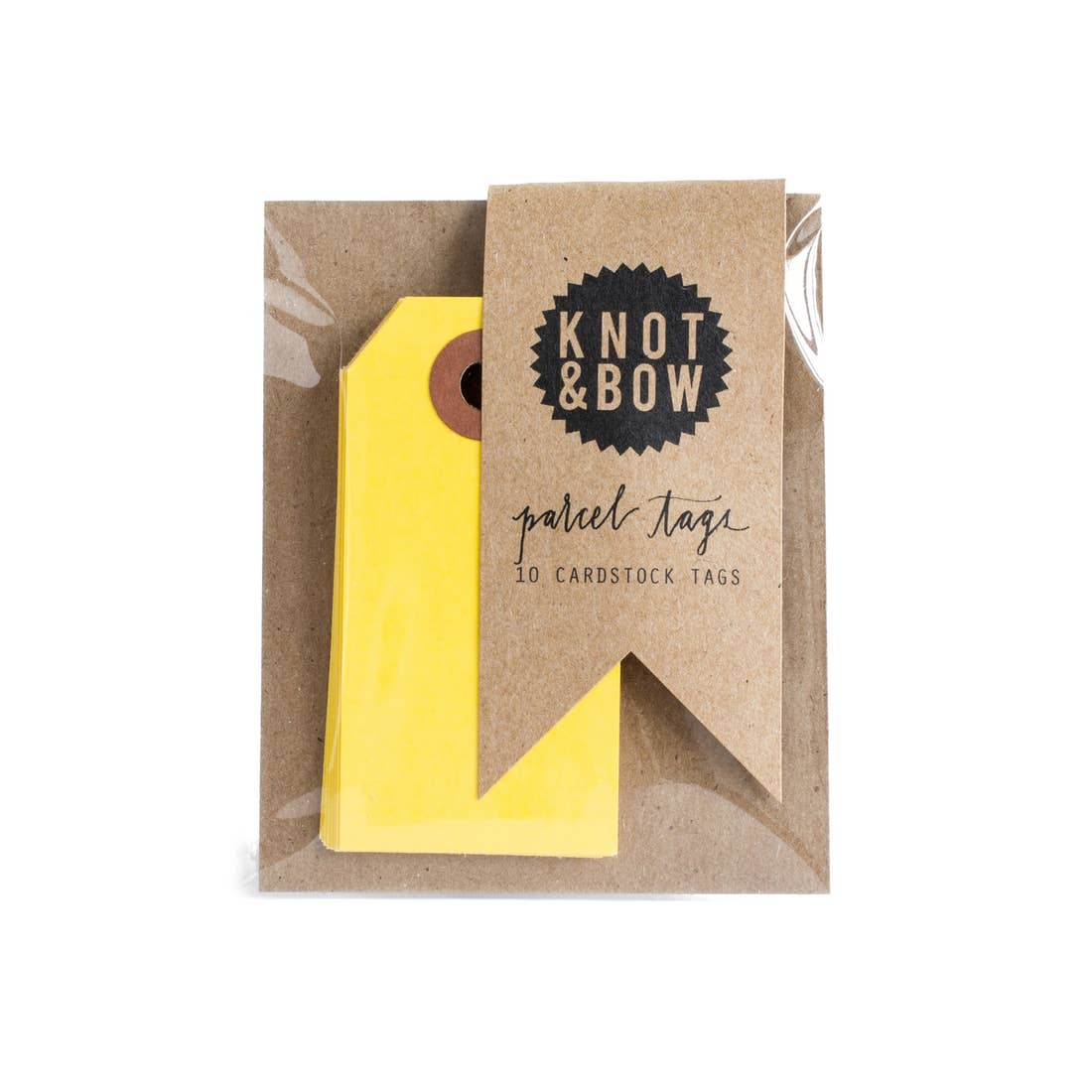 Yellow Parcel Tags - Pack of 10
