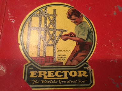 A.C. Gilbert Company Ferris Wheel Erector Set in Case Unused - Look in Pop's Attic Antiques - 1