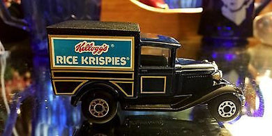 Matchbox Model A Ford Rice Krispies Diecast Toy Car, Matchbox Model A Ford Rice Krispies Diecast Toy Car, Matchbox,  Look in Pop's Attic Antiques