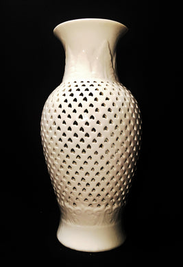 Vintage Chinese Vase, Vintage Chinese Vase, Blanc de Chine,  Look in Pop's Attic Antiques