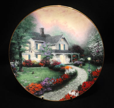 Home Sweet Home by Thomas Kinkade 1st Issue Collectors' Plate - Look in Pop's Attic Antiques - 1