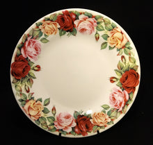 Garden Rose Dessert Plates by Roy Kirkham Yellow, Red & Pink Roses