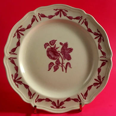 Williamsburg Husk by Wedgwood Pink Flowers & Garland Bread & Butter Plate