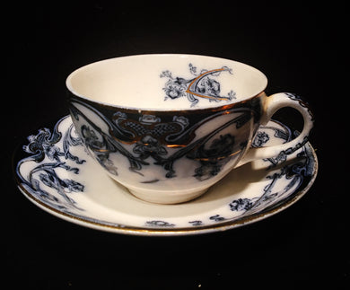 Flow Blue Porcelain, Flow Blue Porcelain, Royal Staffordshire,  Look in Pop's Attic Antiques