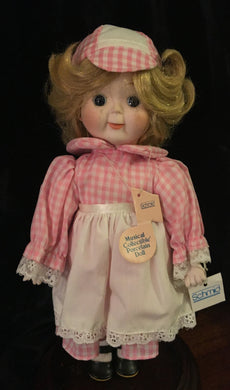 Porcelain Musical Dolls, Porcelain Musical Dolls, Schmid Dolls,  Look in Pop's Attic Antiques