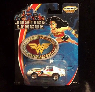 Justice League 1:64 scale Chevy Corvette Diecast Matchbox Car Wonder Woman
