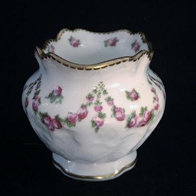Antique Bone China Sugar Bowl, Antique Bone China Sugar Bowl, Crescent & Son Potters,  Look in Pop's Attic Antiques