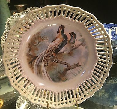 Rare German Pheasant Plates, Rare German Pheasant Plates, Germany,  Look in Pop's Attic Antiques