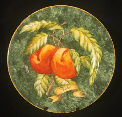 American Atelier Lattice Fruit Peche Salad Plate - Look in Pop's Attic Antiques - 1