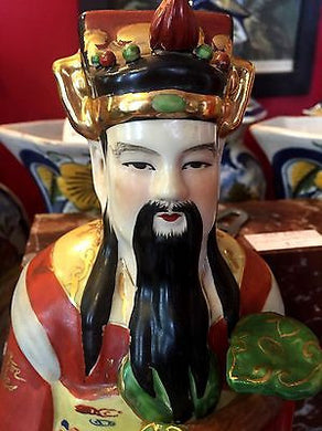 Chinese Famille Verte Porcelain Immortal, Chinese Famille Verte Porcelain Immortal, Qing Dynasty,  Look in Pop's Attic Antiques