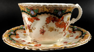 Doris by Collingwoods Porcelain Coffee Cup & Saucer Tan Border
