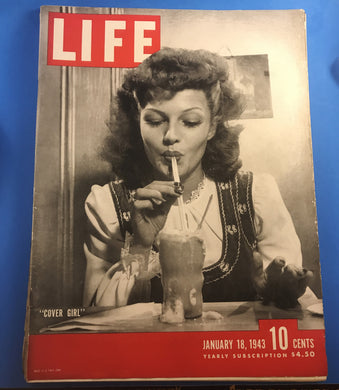 January 18, 1943 Life Magainze Cover Girl