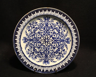 Antique Flow Blue Plate, Antique Flow Blue Plate, Thomas C Brown Westhead, Moore & Co,  Look in Pop's Attic Antiques