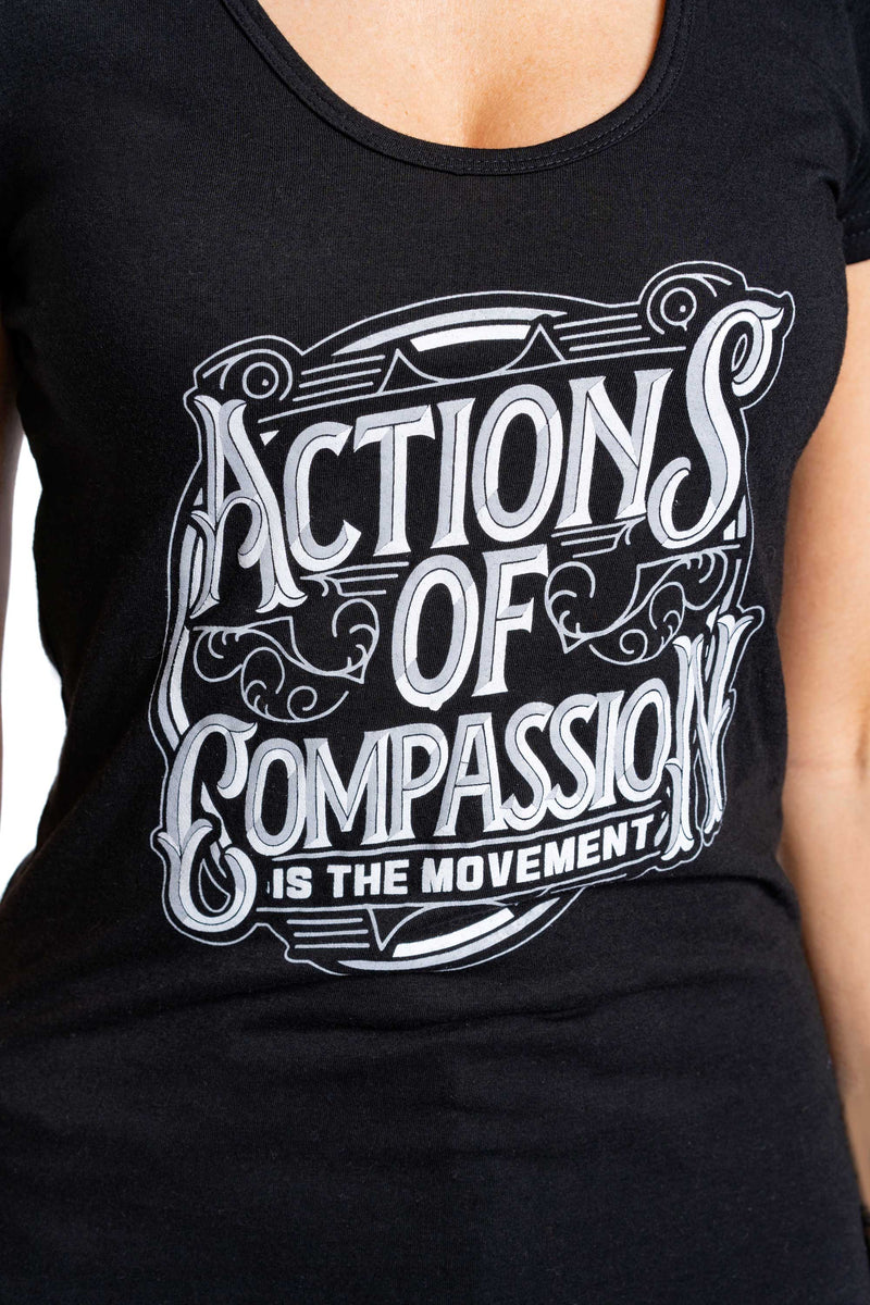 Bamboo Actions Of Compassion Tee Black - Women