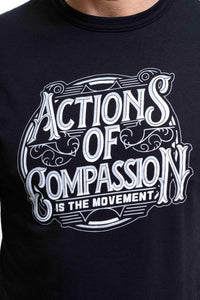 Bamboo Actions Of Compassion Tee Black - Mens