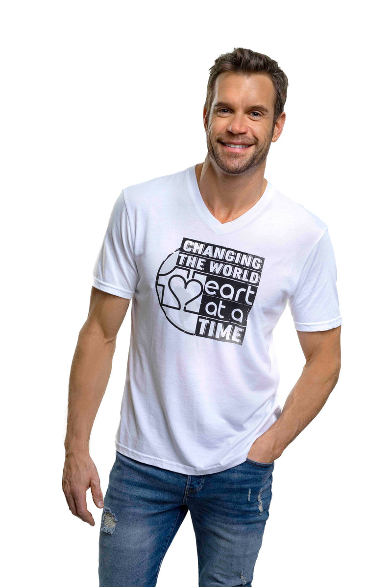 Bamboo Changing The World 1 Heart at a time Tee White - Mens