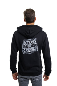 Bamboo Actions Of Compassion hoodie Black Mens