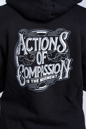 Bamboo Actions Of Compassion hoodie Black Women