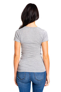 Bamboo Do It With Integrity Bring It To Live Tee Grey Women