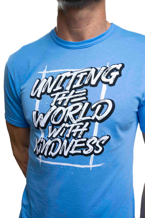 Bamboo Uniting The World With Kindness Tee Blue Mens