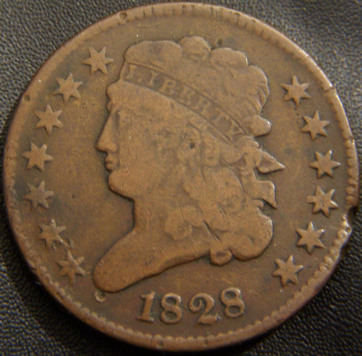 1828 Half Cent - 13 Stars Very Good