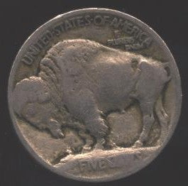 1913 T1 Buffalo Nickel - Good/VG