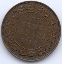 1917 Canadian Large Cent - VG/F