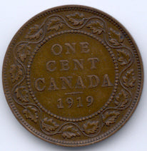 1919 Canadian Large Cent - VG/F