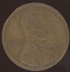 1921-S Lincoln Cent - Good/VG