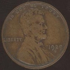 1929-S Lincoln Cent - Good/VG
