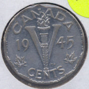 1945 Canadian 5C - Fine to EF