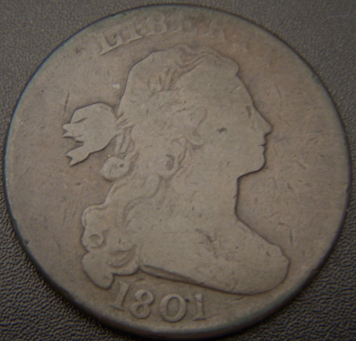 1801 Large Cent - 3 Error - VG