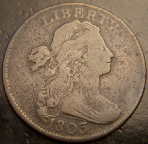 1803 Large Cent - Stemless - F