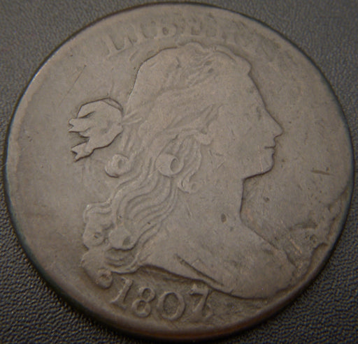 1807/6 Large Cent - L7 - VF