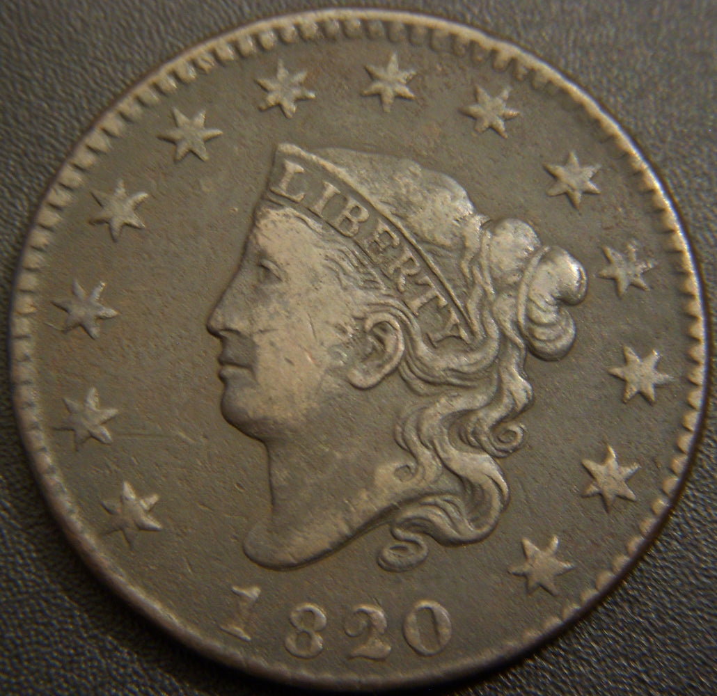 1820 Large Cent - Small Date Very Fine