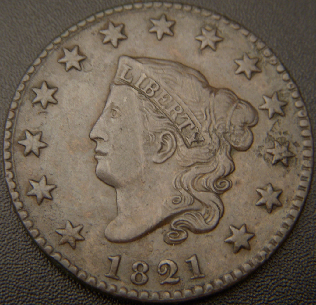 1821 Large Cent - Extra Fine