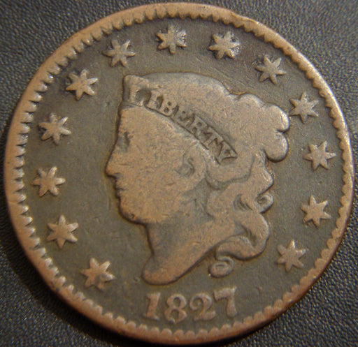 1827 Large Cent - Very Good