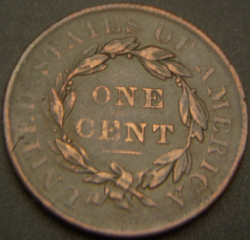 1835 Large Cent - VF Sm 8